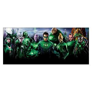 Green Lantern. Размер: 70 х 30 см